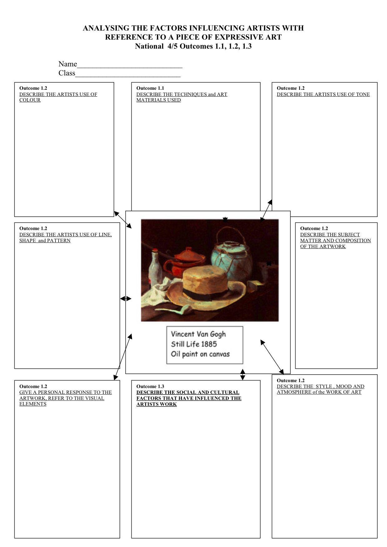 High School Art Worksheets 16 Worksheet