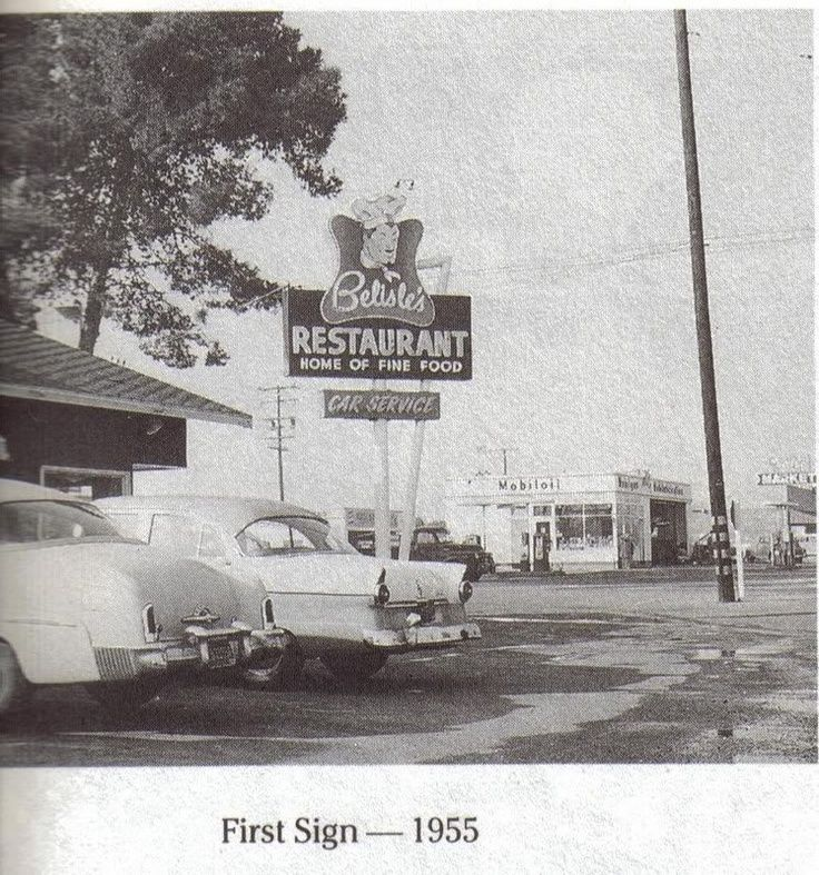 Belisles Restaurant, Garden Grove, CA 1955 Garden