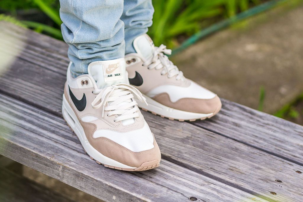 42768474f698e3 See how the Nike Air Max 1 Desert Sand looks on feet in this video review  before you cop! Find out where to buy these Nike Air Max 1s online!