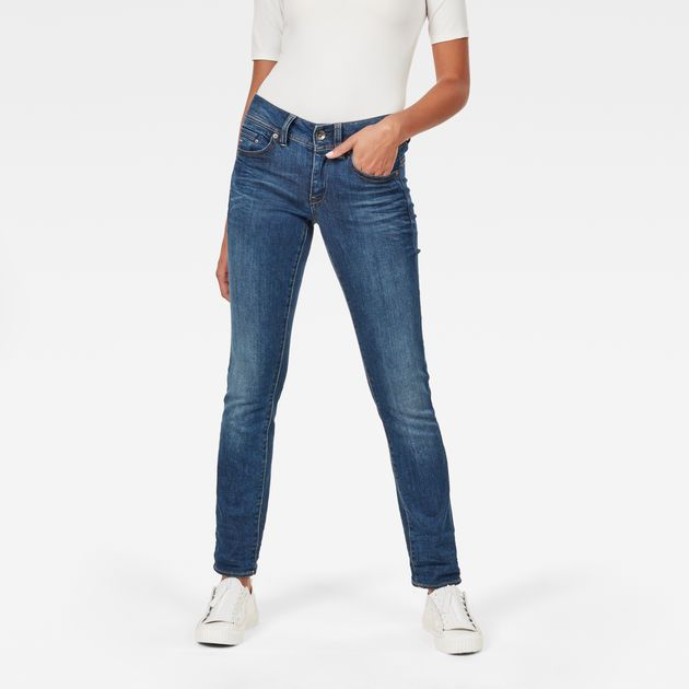 b924f49b232 92% Cotton, 7% Polyester, 1% Elastane The G-Star Midge jeans uses  considered construction techniques to enhance the female silhouette.
