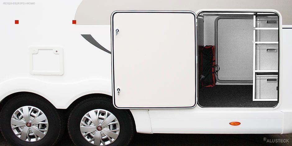 Regal für die Wohnmobil, Caravan oder Camper Heckgarage