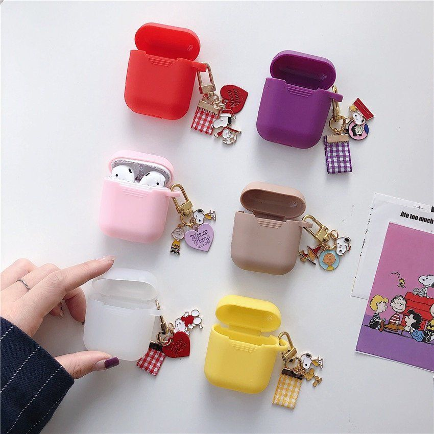 Cute Snoopy Airpod Case With Keyring Peanuts Snoopy Airpod Case