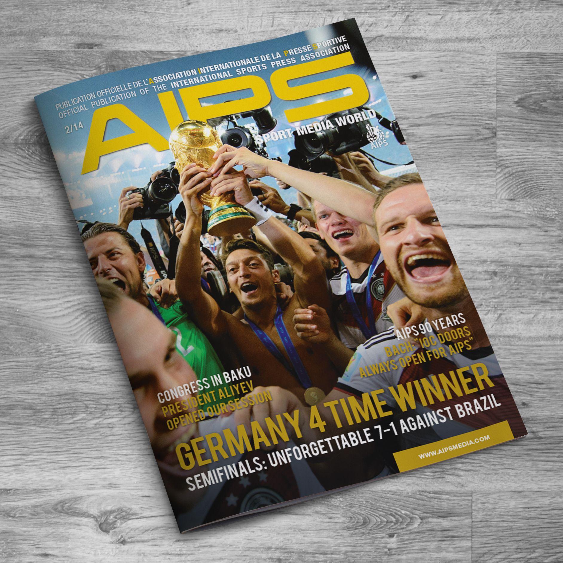 Abbiamo prodotto il nuovo numero della rivista internazionale dei giornalisti sportivi (AIPS). Anche in questo caso ci siamo occupati, in qualità di Art Director, di realizzazione grafica e impaginazione.  QUI POTETE TROVARE LO SFOGLIABILE ONLINE: http://www.aipsmedia.com/album/AIPS0214/index.html