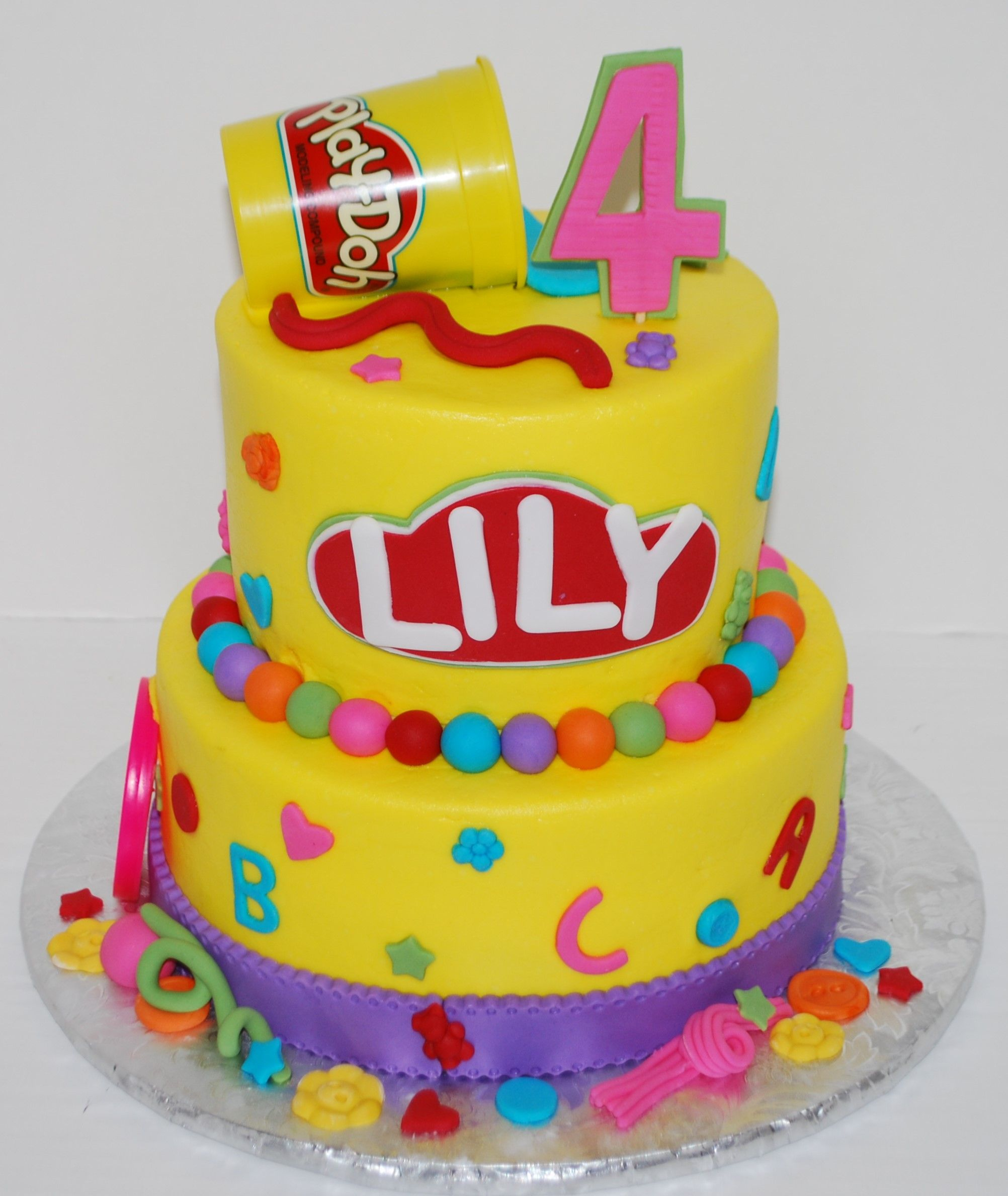 play doh birthday cake