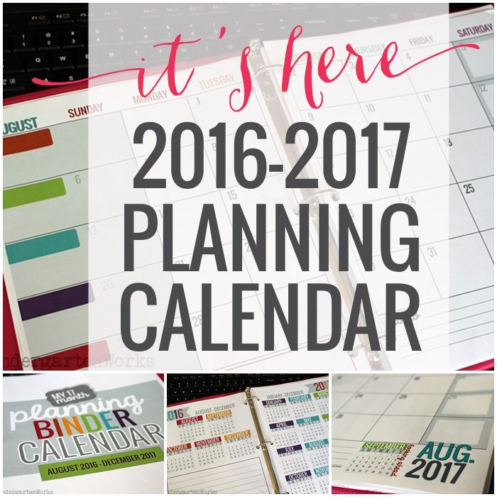 Printable  Teacher Planning Calendar Template