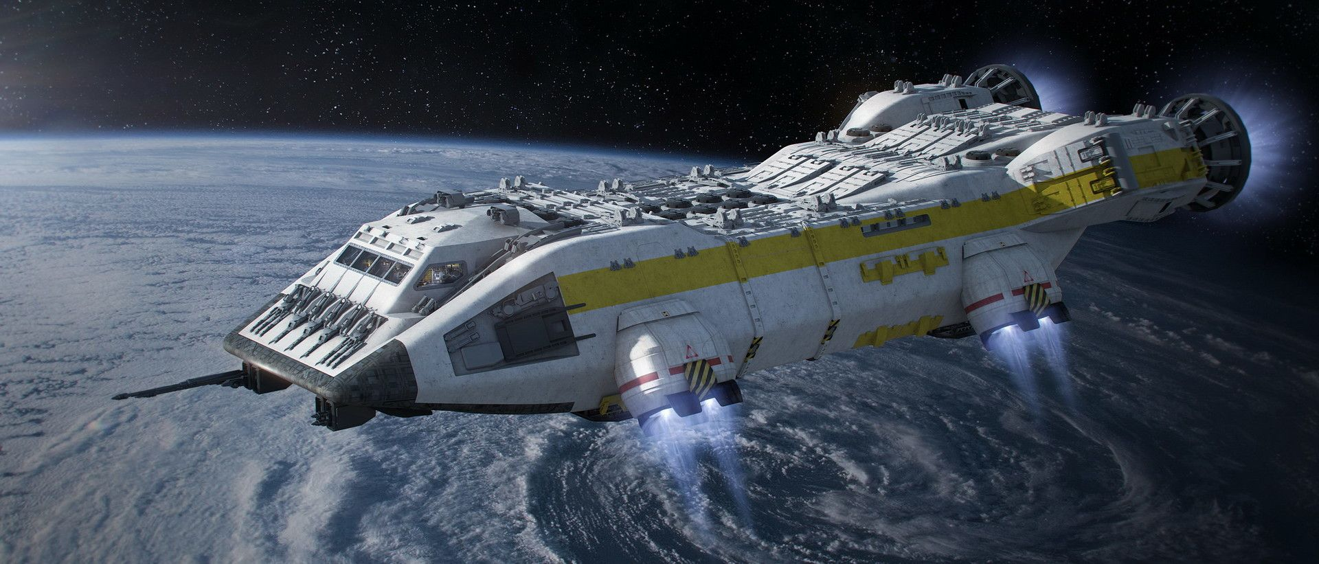 Artstation alien covenant lander steve burg ship of