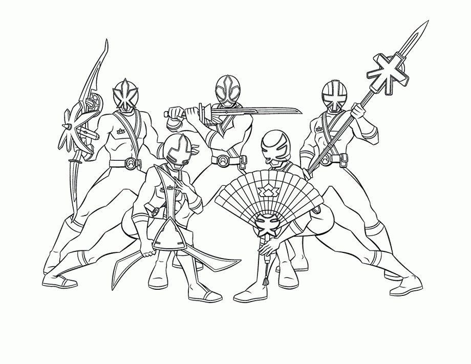 Coolest power ranger samurai coloring pages printable - http ...