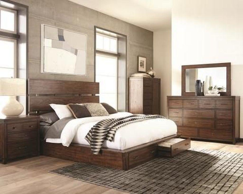 40 Inspiring Farmhouse Storage Bed Design Ideas   apartment ...