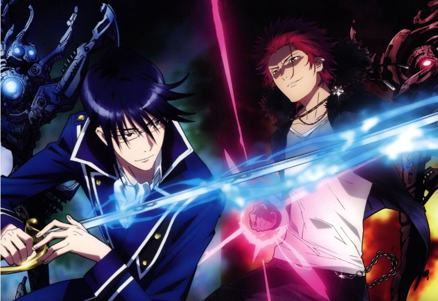 Red vs blue · Tags: Official Art, K Project, Suoh Mikoto, Munakata Reisi