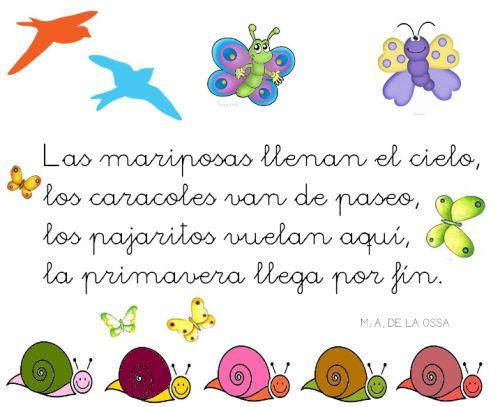 Poesías   Rincón de infantil   Página 2   Primavera   Pinterest ...