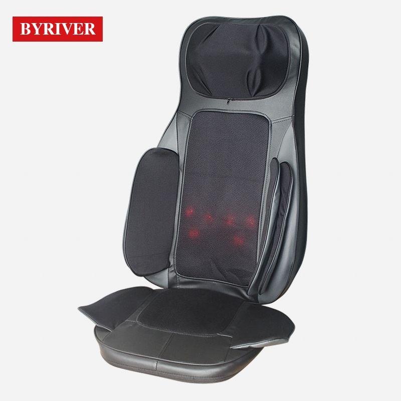 Byriver Portable Massage Chair 3d Airbag Massage Cushion Shiatsu Neck Back Massager With 1 Year Warranty In 2020 Neck And Back Massager Body Massage Back Massager