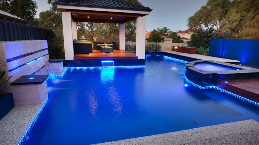 37 Swimming Pool Water Features Waterfall Design Ideas Pool