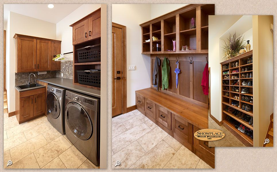 Captivating Cabinets: Showplace Cabinetry Creates A Mud Room, Laundry Room And Shoe Rack .