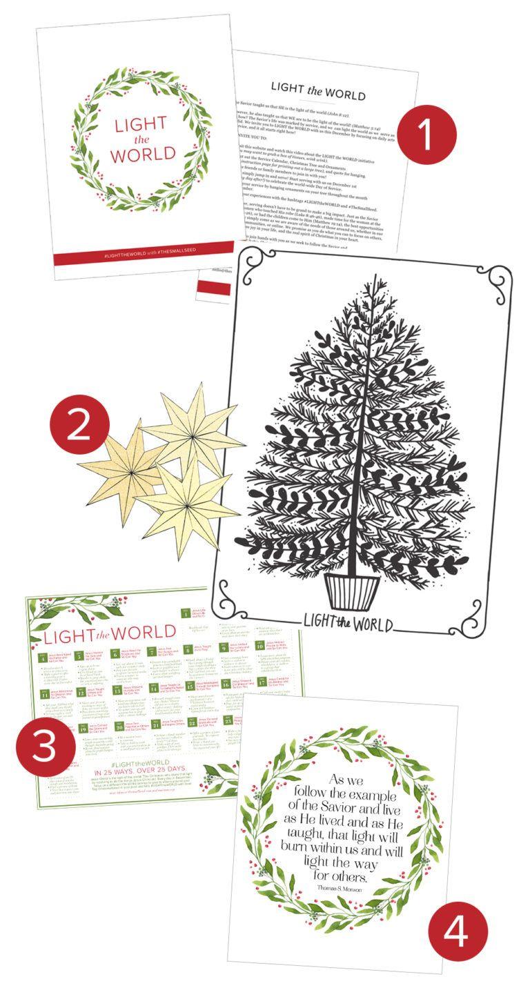 Light the World printables | Spirit of CHRISTmas/Family Tradtions ...