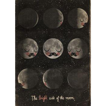 The Bright Side of the Moon  Martin Krusche är en illustratör från Berlin som har gjort föregångaren Fur Neil som har blivit superpoppis. Nu har det kommit en