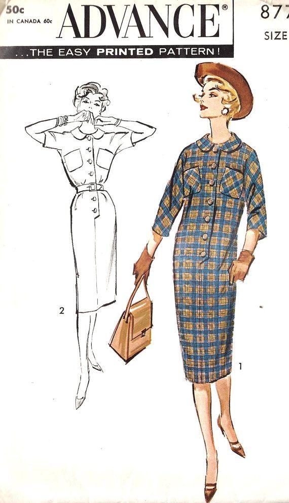 1950s Chemise Dress   1950s   Pinterest   Trajes de mujeres ...