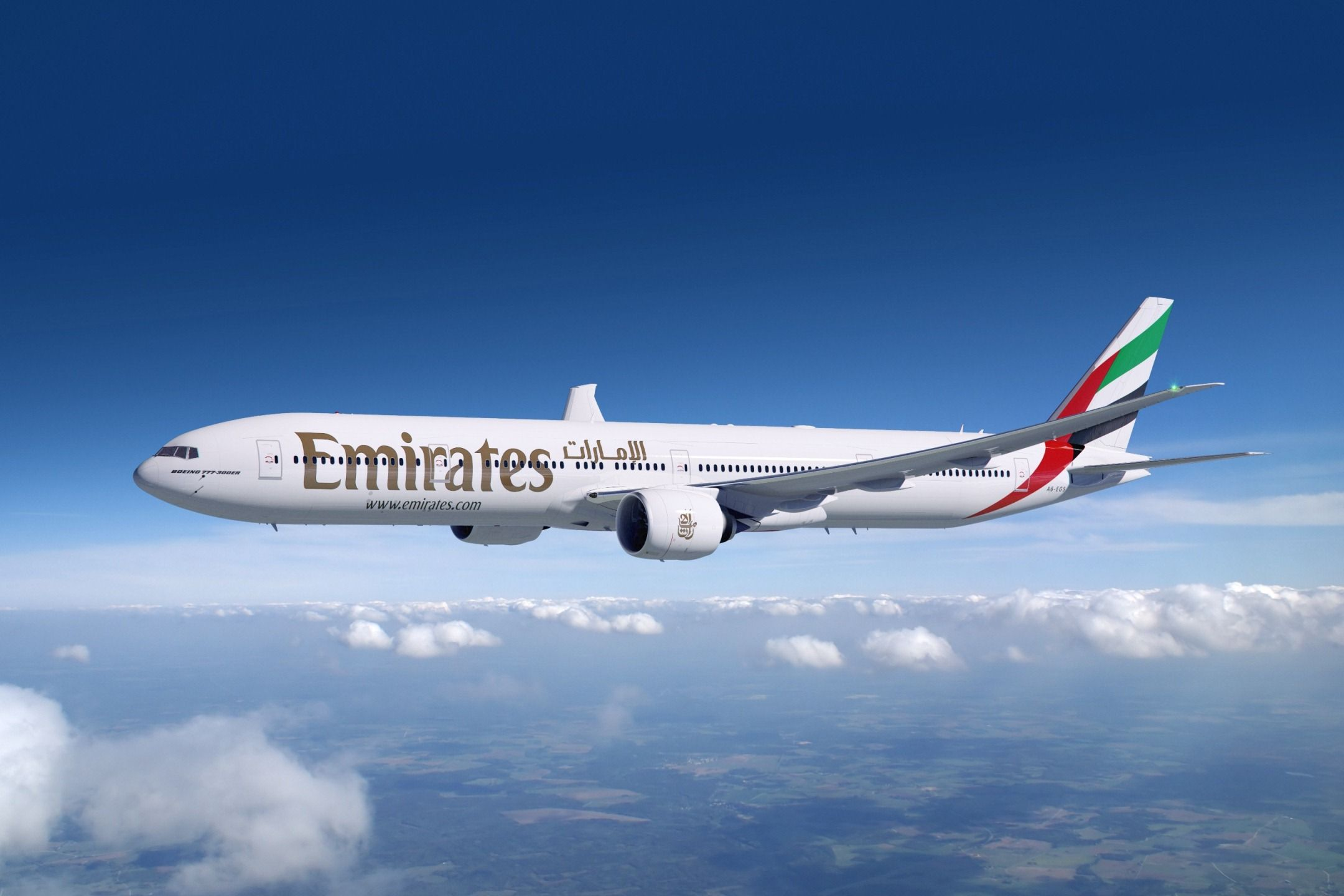 Обои airlines, fly, Emirates, sky. Авиация foto 19