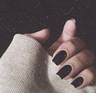 Image Result For Black Nails Tumblr