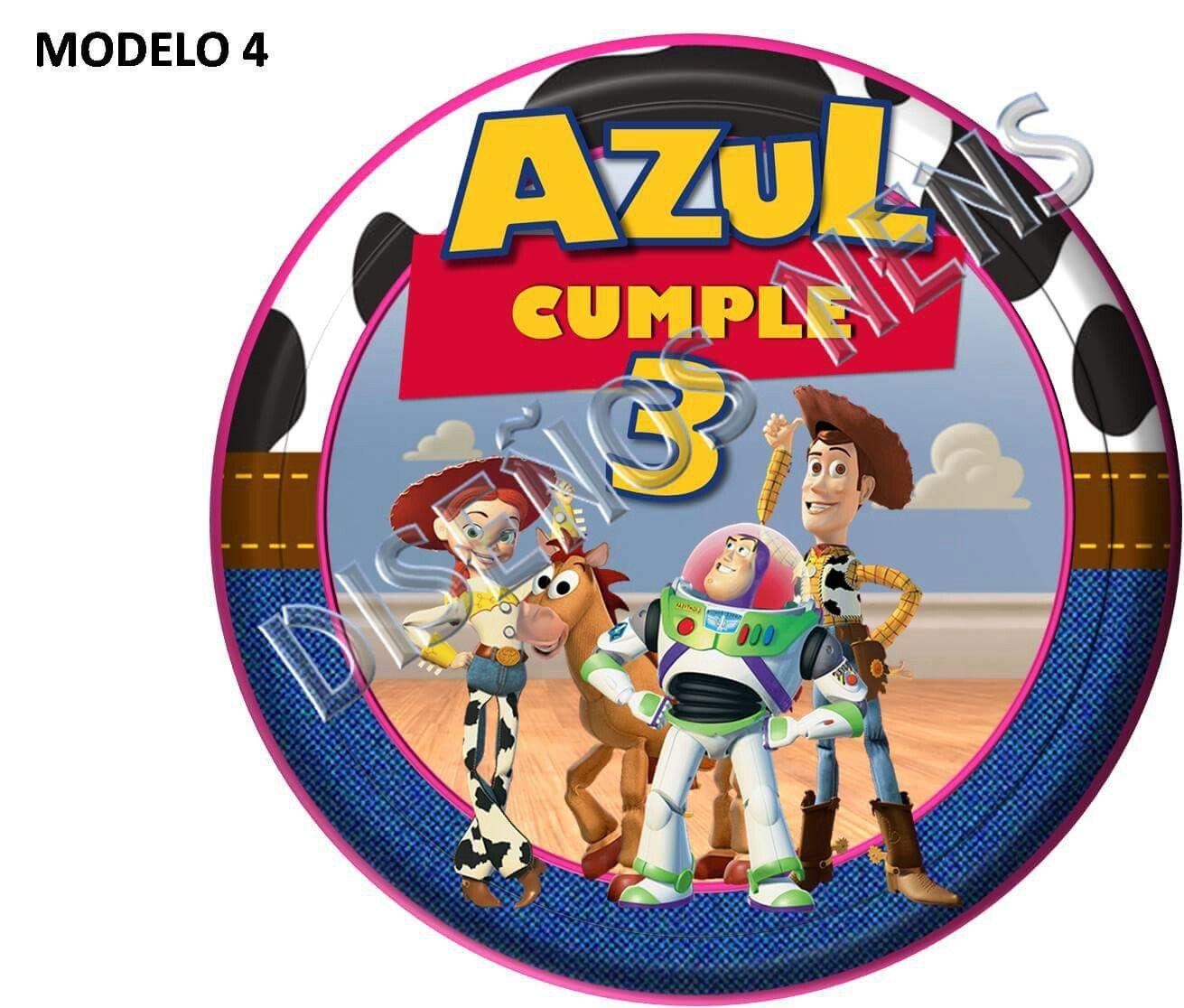 Toy Story Círculos multiuso 3D Etiquetas, toppers, centros de mesa ...