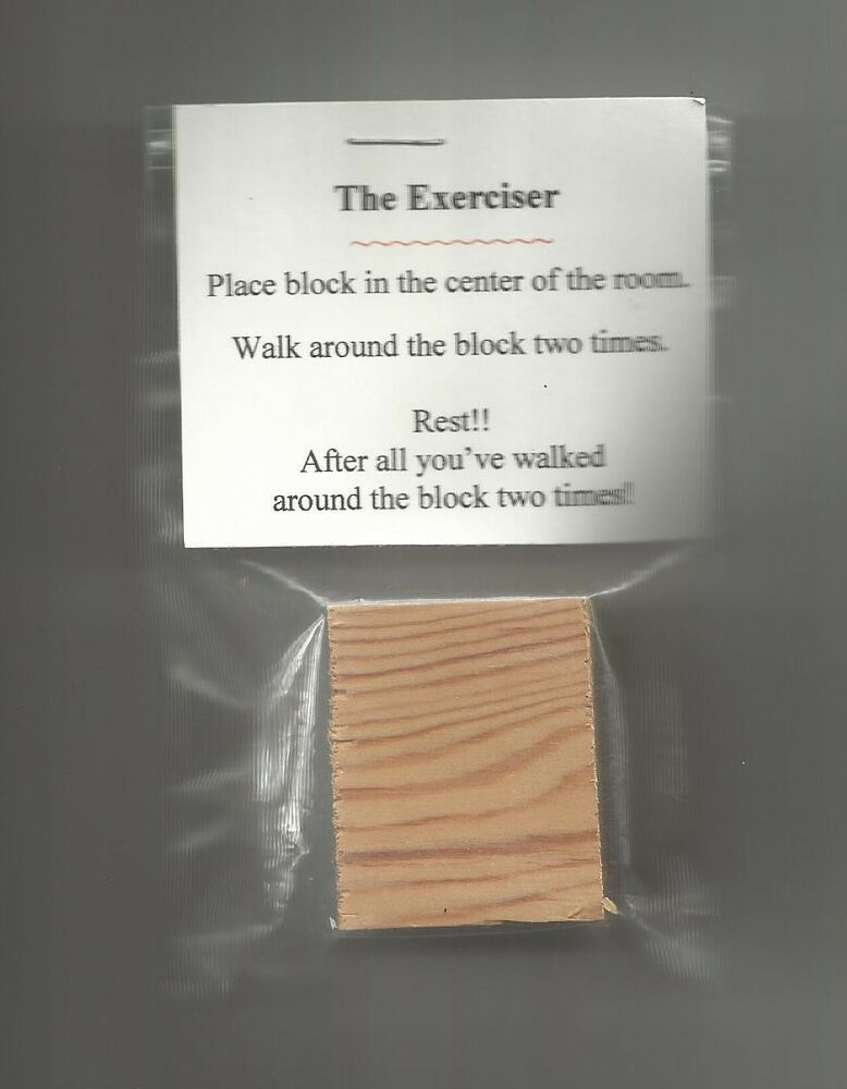 Details about NEW Exerciser Walk Around The Block Novelty Gag Gift Weight Loss Fitness Joke #funnygifts