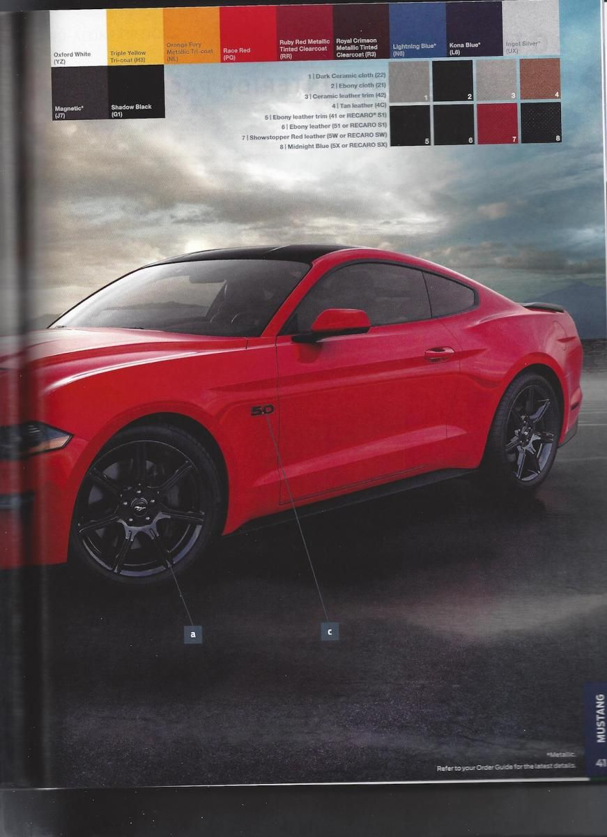 2018 ford order. Contemporary 2018 2018 Ford Mustang Order Guide Has Been Leaked On The Internet  Does Not Throughout Ford Order