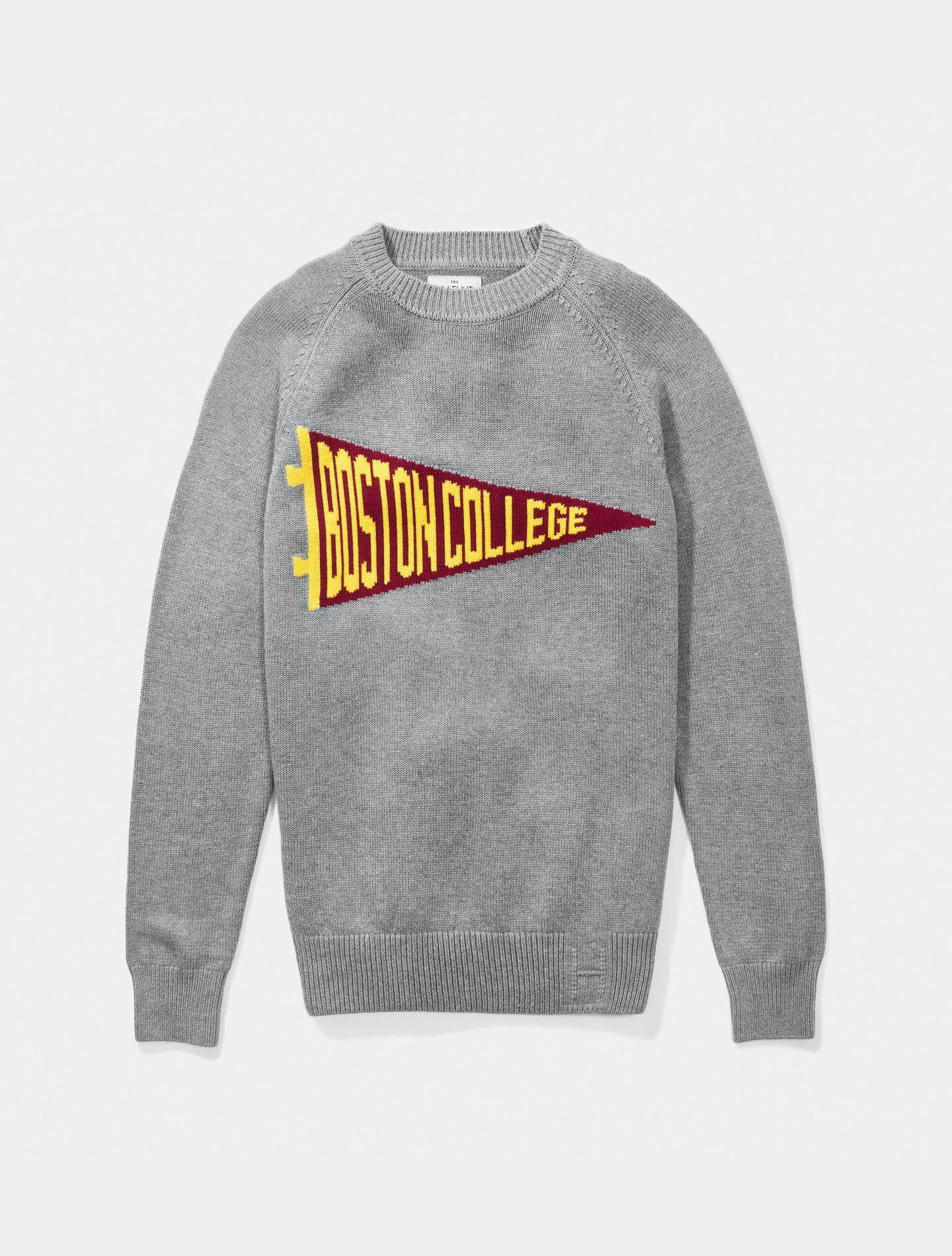 Boston College Pennant Sweater In 2021 College Shirt Design Vintage College Sweatshirts School Shirt Designs [ 1900 x 1440 Pixel ]