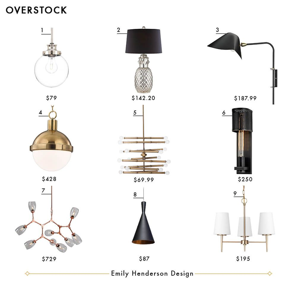 Overstock Emily Henderson Design Lighting Roundup | home | lighting ...