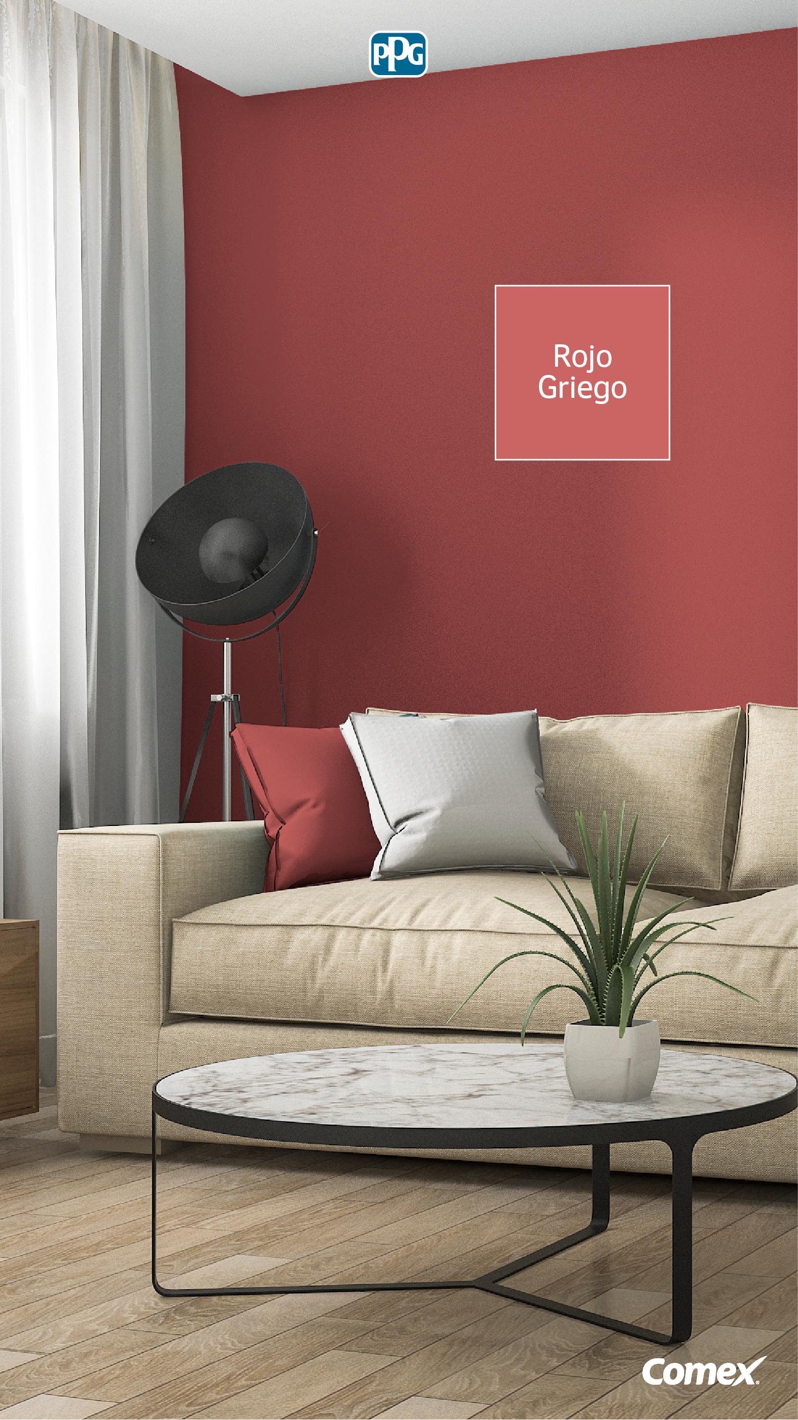 Rojo Griego Es Un Color De Linea De Durex Master Perfecto Para Darle Un Nuevo Ai Colores De Pintura De Interior Colores De Interiores Pintura De Interiores