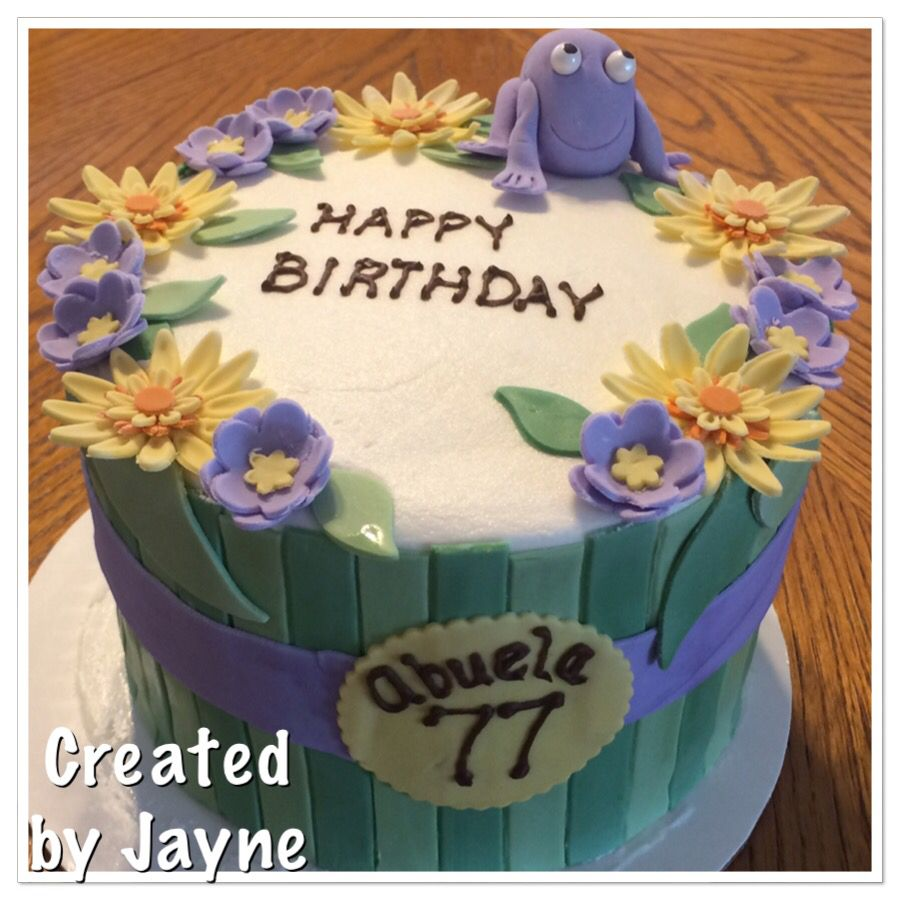 Marvelous Moms 77Th Birthday Cake Created By Jayne With Images 77Th Personalised Birthday Cards Beptaeletsinfo