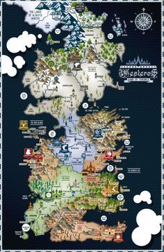 Game Of Thrones Westeros Map 17 11 Poster Game Of Thrones