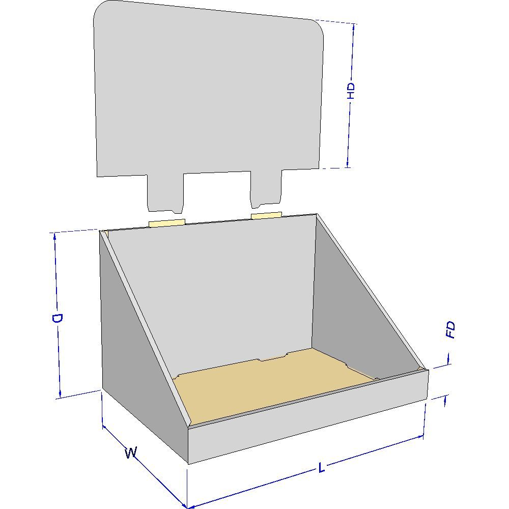 Cardboard display counter buscar con google cardboard for Point of sale display template