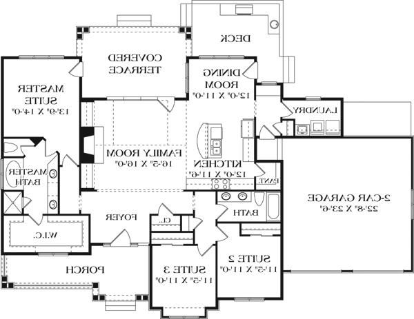 First Floor Plan image of 2nd Place 2012 ENERGY STAR House Plan