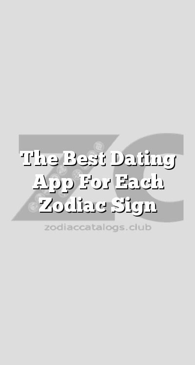 Dating app based on astrological sign