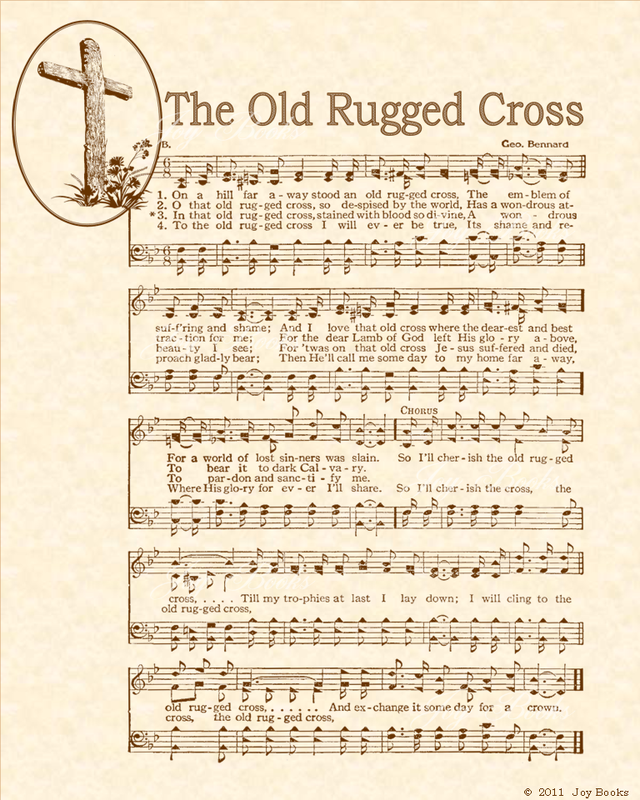 The Old Rugged Cross - Christian Heritage Hymn, Sheet Music ...