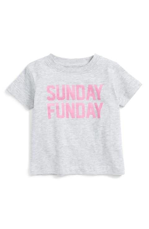 Kid Dangerous Sunday Funday Graphic Tee (Baby Girls)