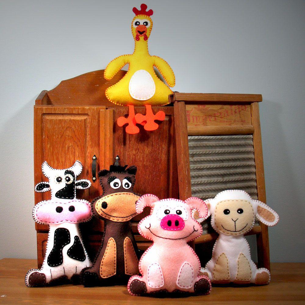 Pick 2 Farm Stuffed Animal Hand Sewing PATTERNS ...