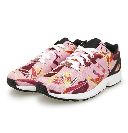 ADIDAS ORIGINALS ZX FLUX SOLAR FLORAL LIGHT PINK CORE BLACK B34520 $199.00