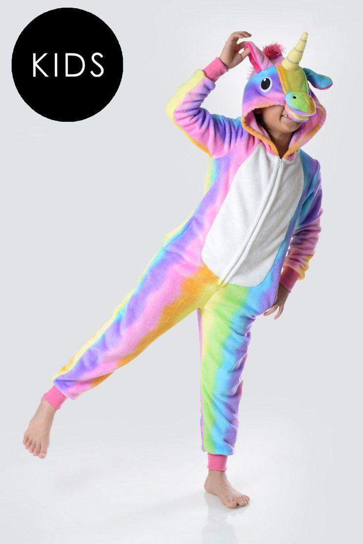 Home Of The Pajama Party Cute Fun Pajamas Sleepwear For Girls And Teens Beautiful Unicorn Onesies Unicorn Onesie Pajamas Rainbow Kids Girl Onesies