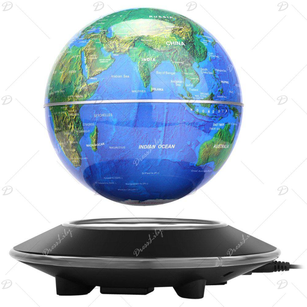 Novel magnetic levitation floating globe world map rotating display novel magnetic levitation floating globe world map rotating display showcase decoration gumiabroncs Gallery