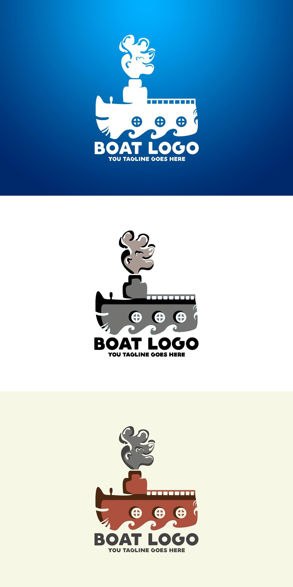 Boat Logo Retro graphic design, Logos, Logo templates