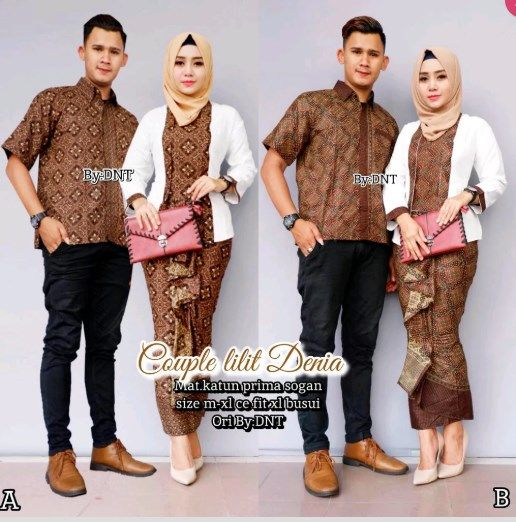 Trend Model Baju Batik Couple Sarimbit Anak Muda 2018 Couple Lilit