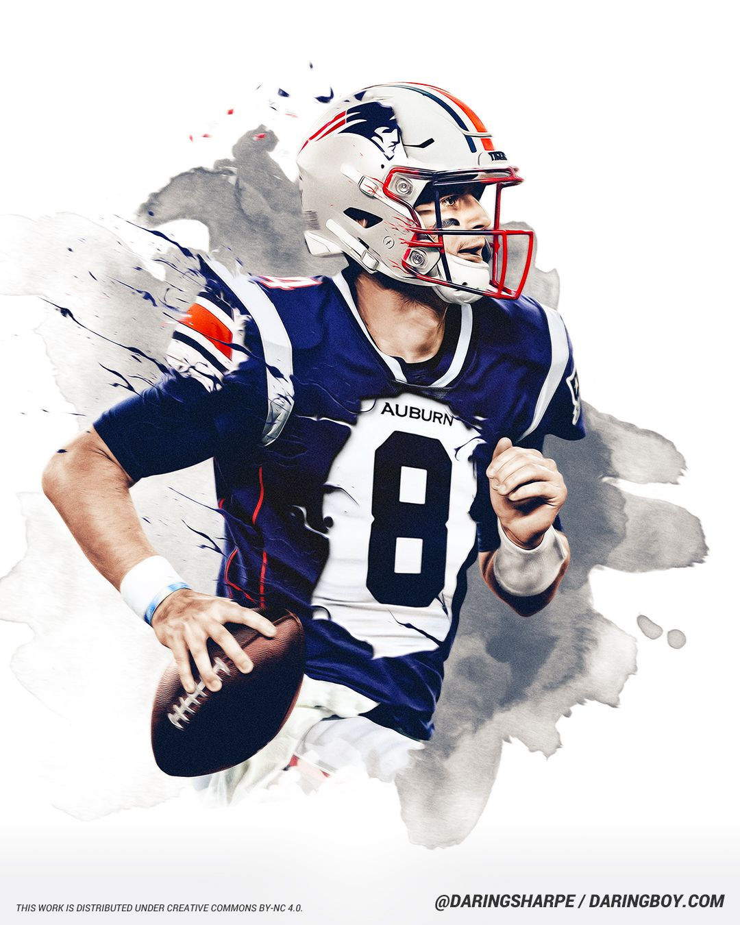 Jarrett Stidham New England Patriots In 2020 Nfl Football Art New England Patriots Stidham