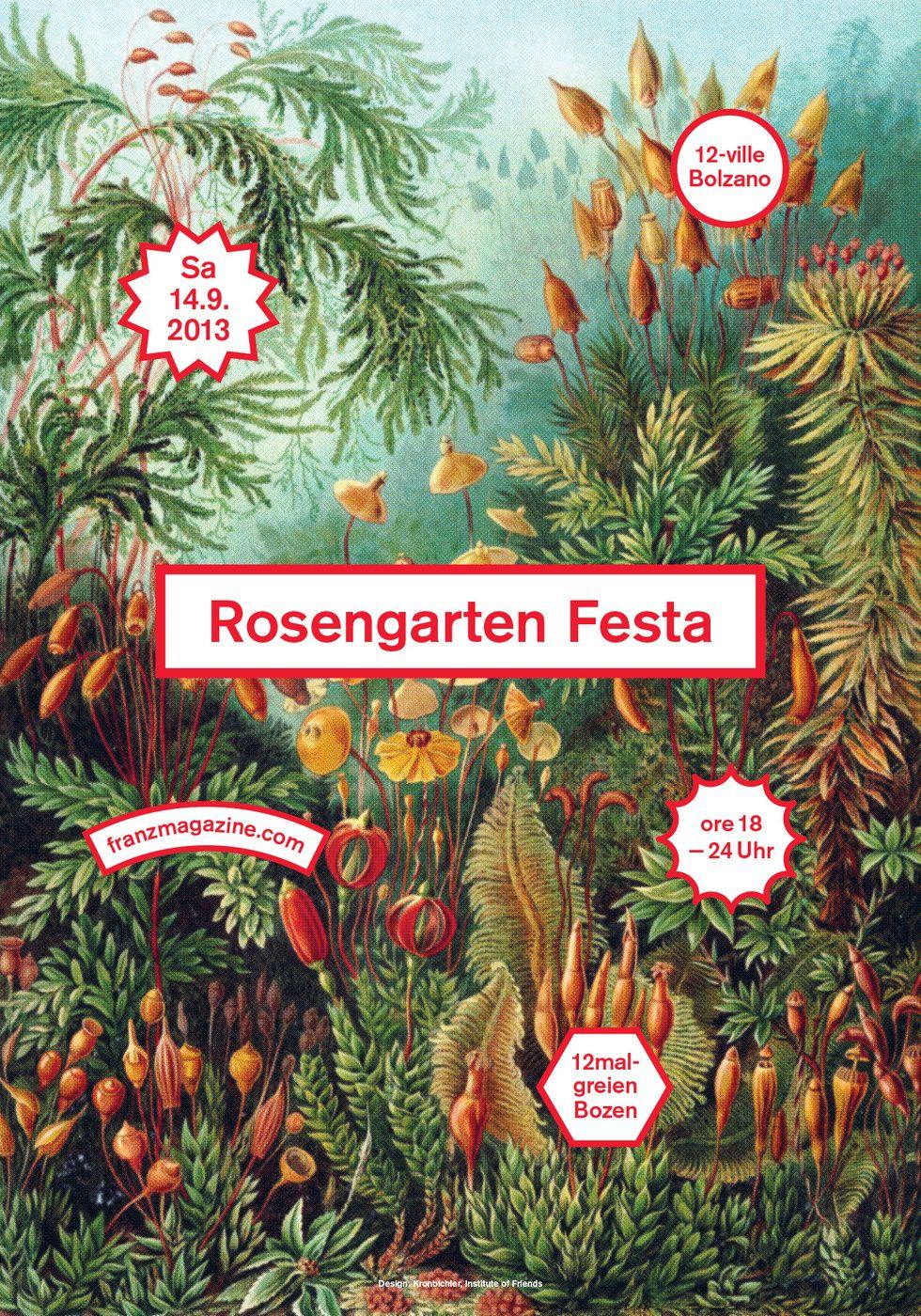Design poster 70x100 - Mut Rosengartenfesta B 1800 Poster By Studio Mut