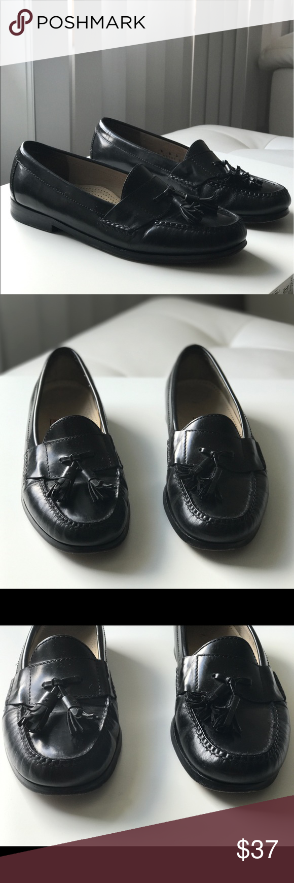 COLE HAAN SZ8 D BLACK LEATHER PINCH TASSEL LOAFERS COLE HAAN MENS SZ 8 D BLACK LEATHER PINCH TASSEL MOC TOE LOAFERS SHOES.                                                          • very good used condition  • Leather • please check photos for details • do not hesitate to contact if you have any question   Thanks Cole Haan Shoes Loafers & Slip-Ons