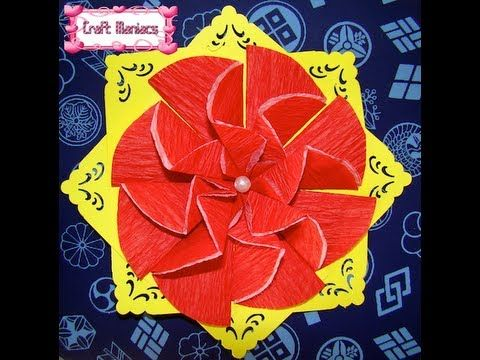 Origami Iris Flower Instructions - YouTube | 360x480