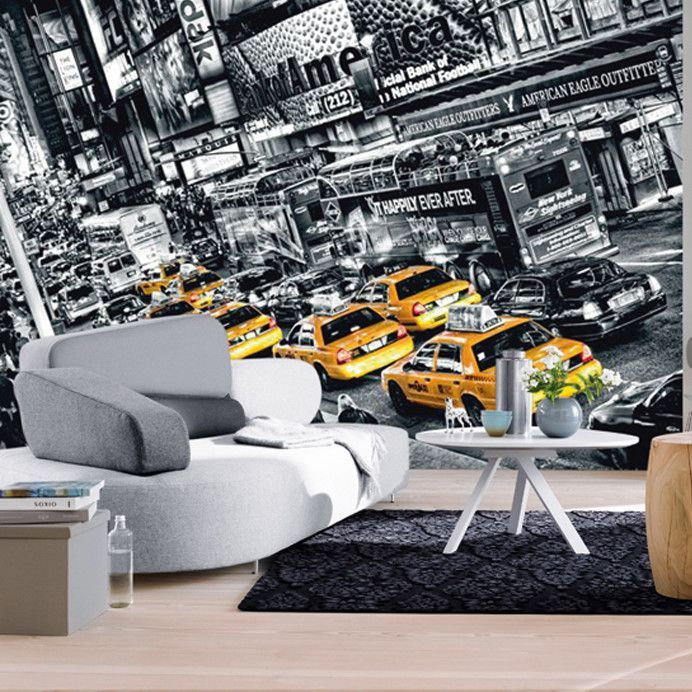 Ideal Decor Cabs Queue Large Wall Mural