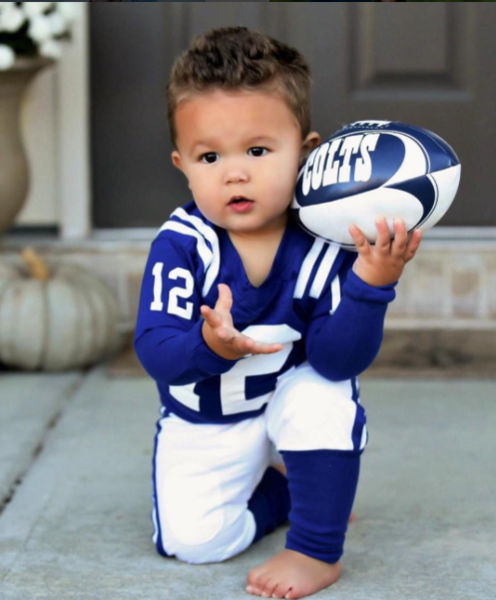 These boys football uniform pajamas are perfect for your little football fan!  They are designed to look like a professional football uniform! 59a1657a8