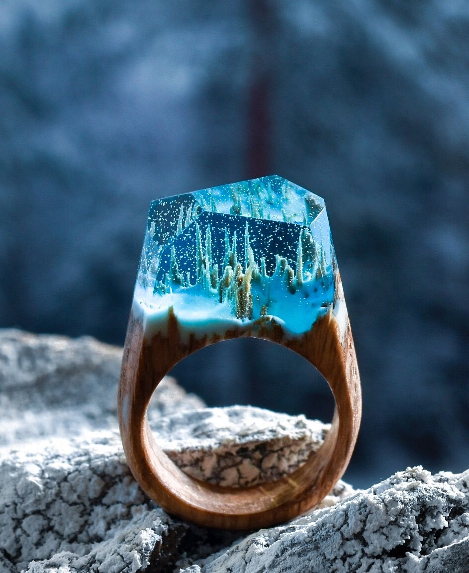Waterfall secret wood fab pinterest woods resin for Waterfall design ring