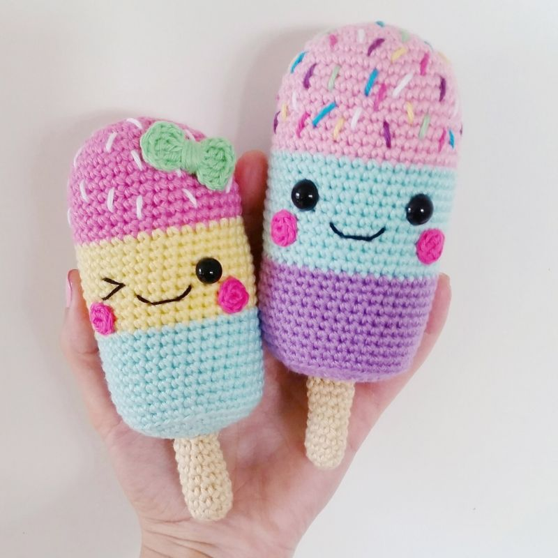 Ice Lollies amigurumi pattern by Super Cute Design | Amigurumi ...