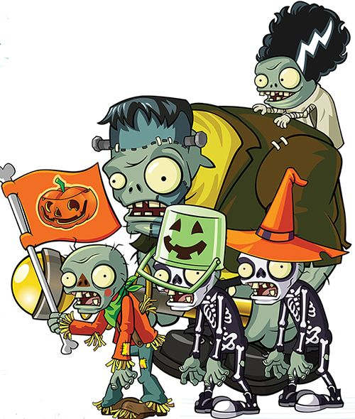Trick or treat with the Lawn of Doom zombies!